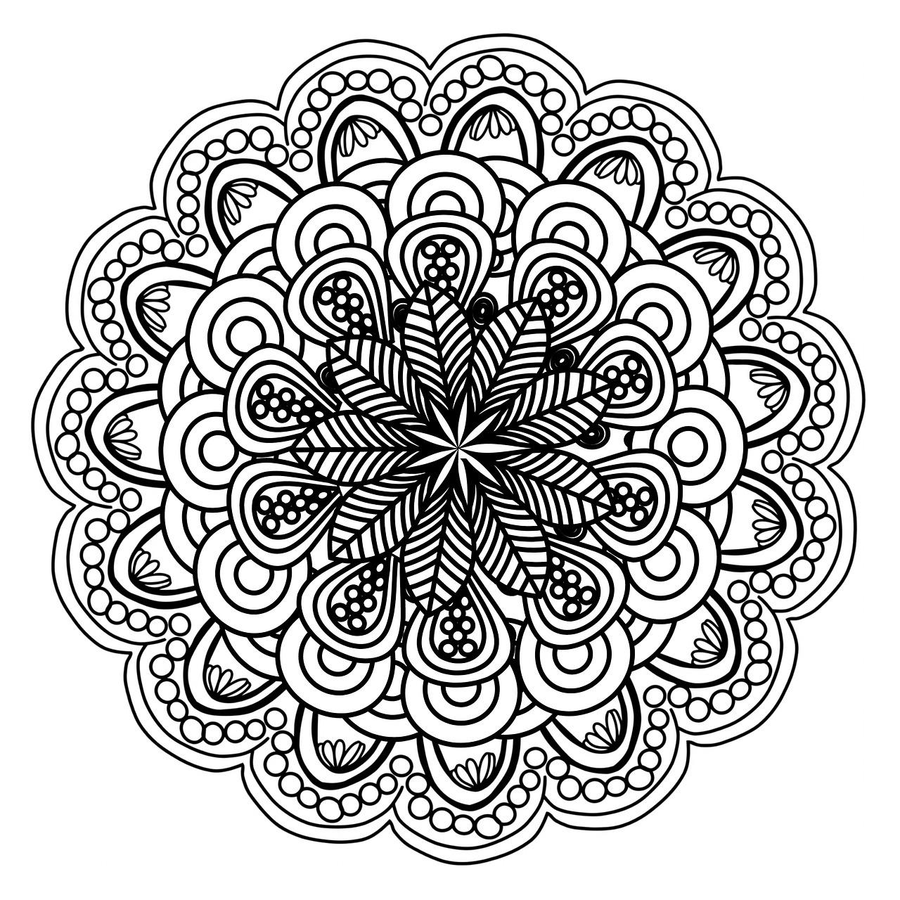mandala, pattern, round
